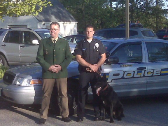 Captain Andy Schaeffer, Officer Josh English and K-9 Patriot