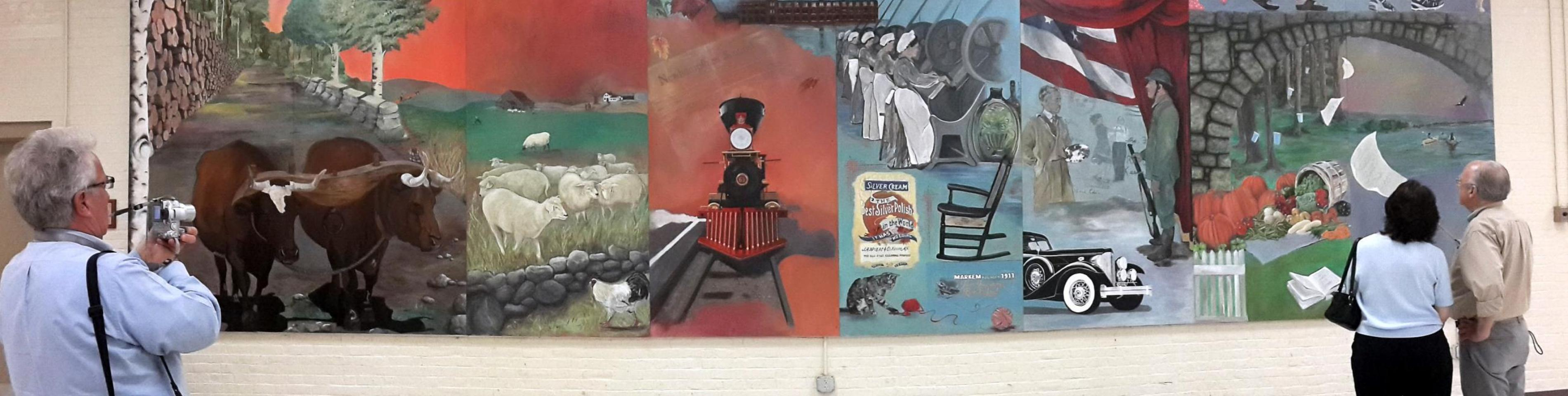 History of Keene Mural at Recreation Center
