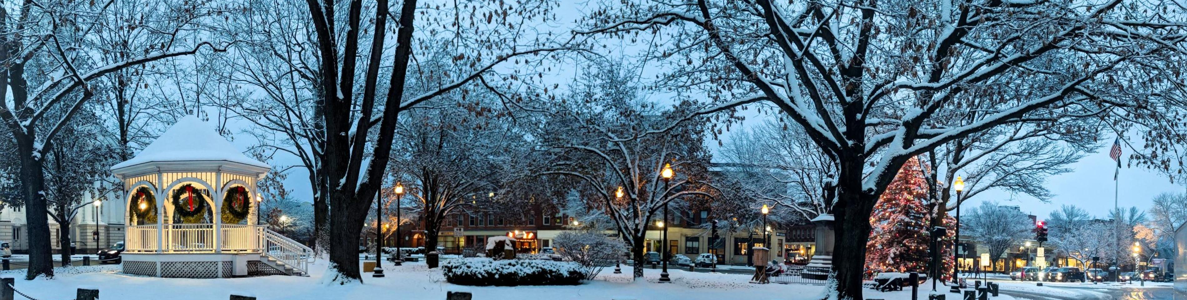 snowy downtown Keene