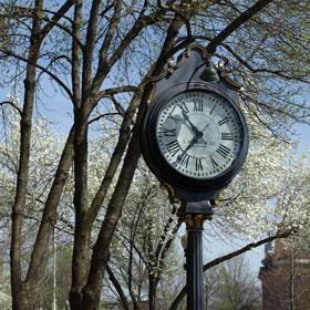 clock on main street