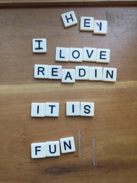 Hey I love reading it is fun scrabble