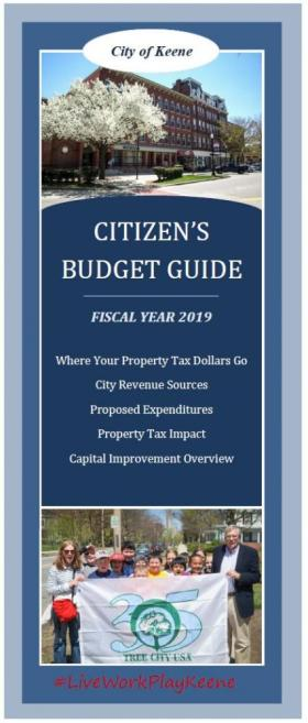 Cover of Budget Guide Brochure FY19
