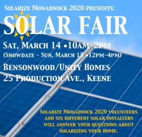 Solar Fair March 14, 2020