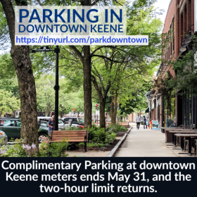complimentary parking ends May 31 image