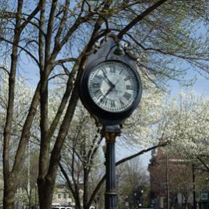 clock on main street